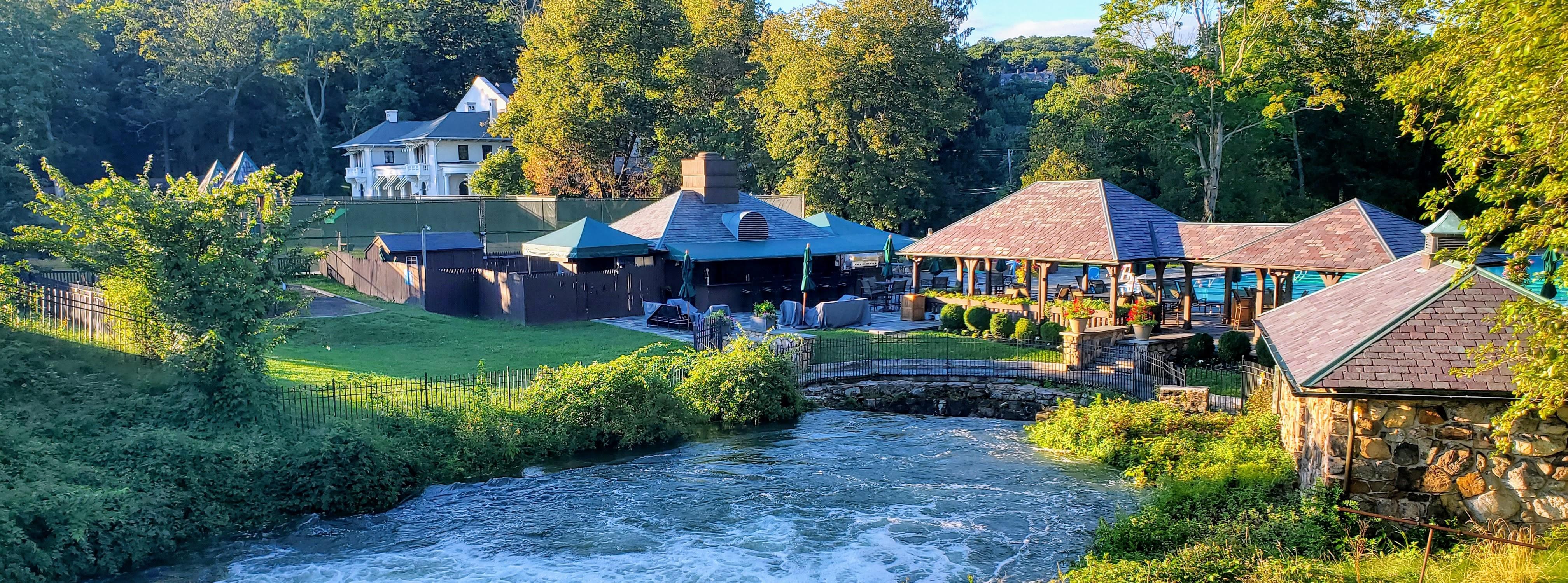 The Tuxedo Club Pool & Dining Area