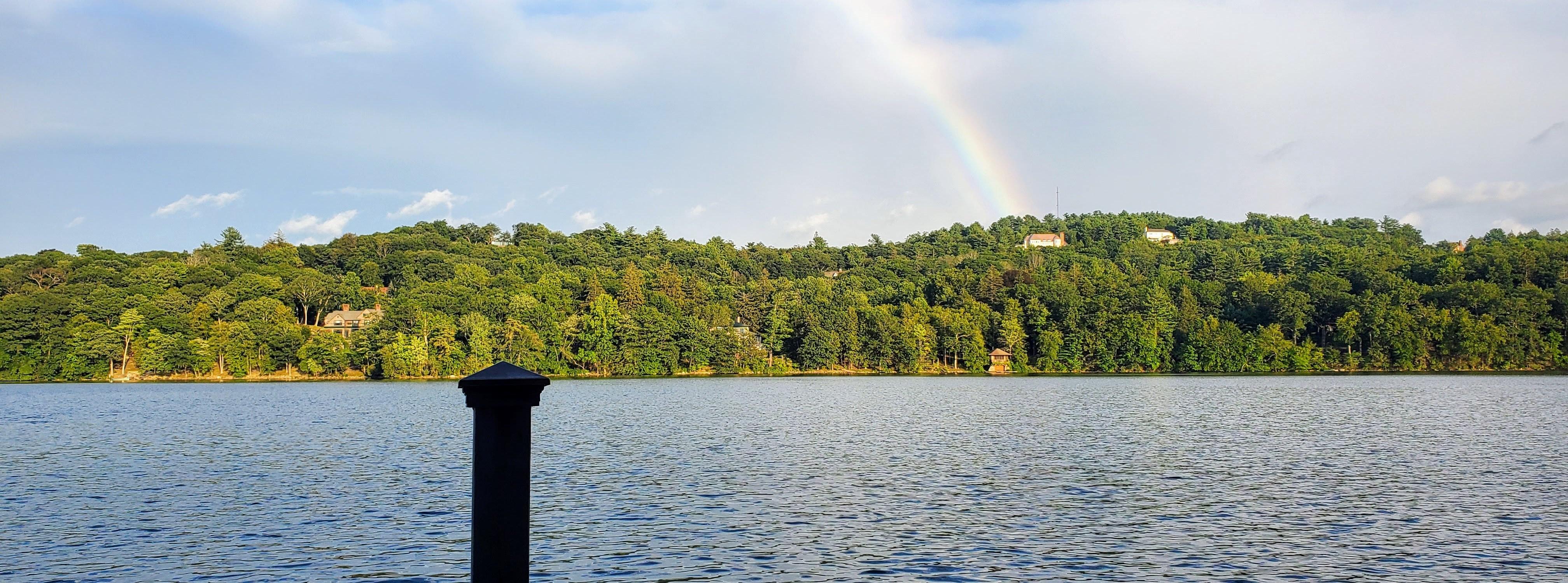August Rainbow Over Ridge Road