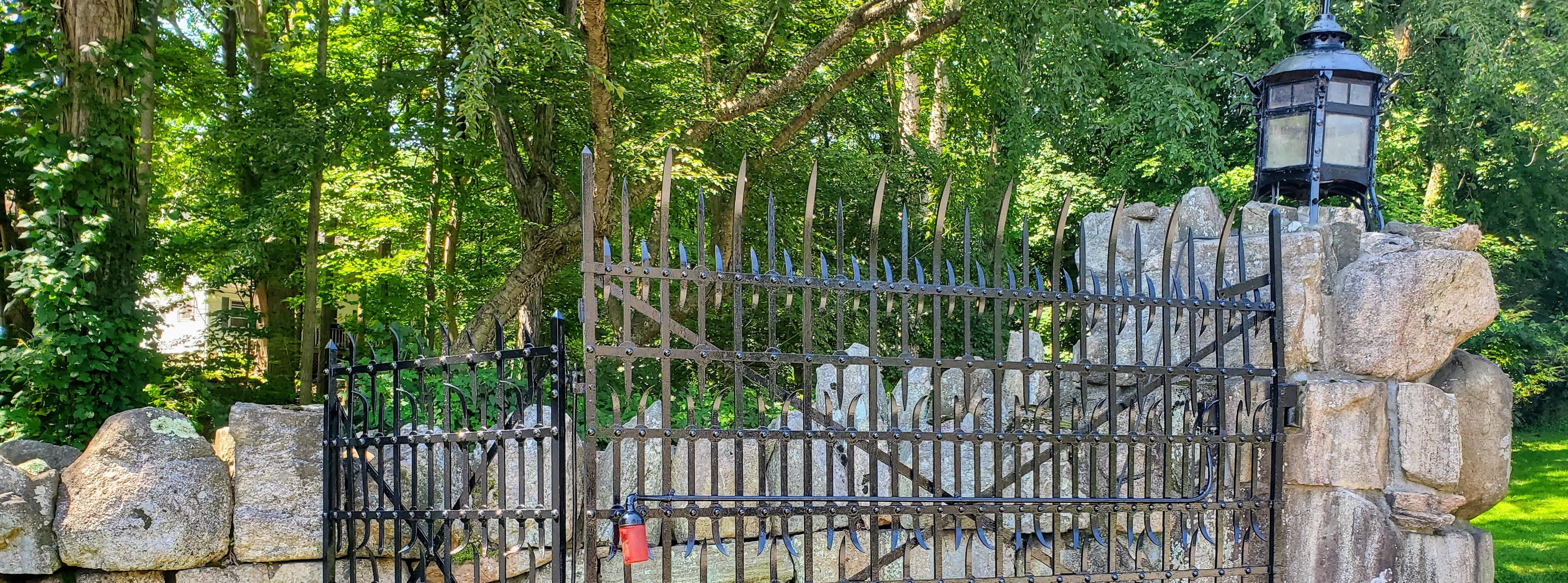 Original Iron Fence & Lantern