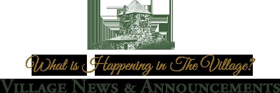 Village News & Announcements